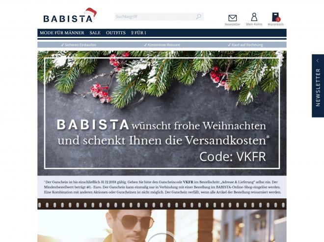 Screenshot des Shops